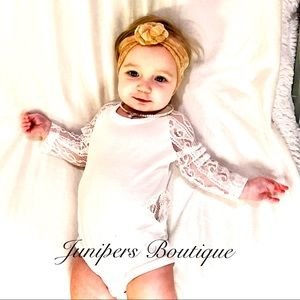 Boutique Baby Girls Lace Romper
